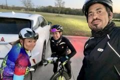 Portia, Cruz and Chris pre-ride