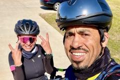 Cruz and Chris post-ride