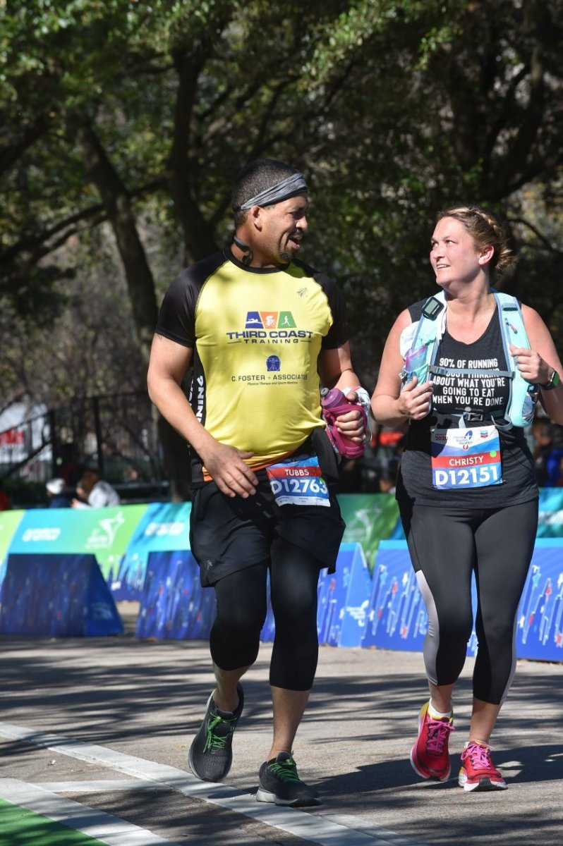 Chevron Houston Marathon Finish with Christine