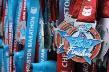 Chevron Houston Marathon Finisher Medals