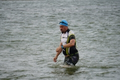 Swim exit - Lake Pflugerville Triathlon